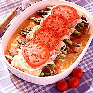 Chicken/Asparagus Roll-Ups Recipe