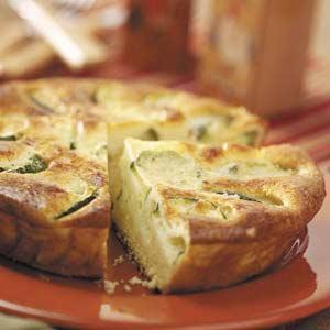 Fluffy Zucchini Quiche Recipe