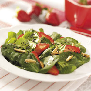 Strawberry Spinach Salad with Raspberry Dressing Recipe