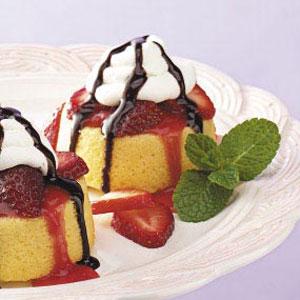 Strawberry Chocolate Shortcakes Recipe