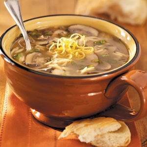 Lemony Mushroom-Orzo Soup for Two Recipe