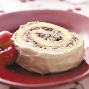 Chocolate Cherry Cake Roll Recipe