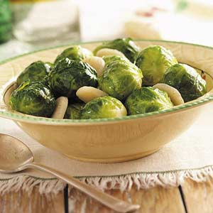 Brussels Sprouts with Water Chestnuts Recipe