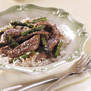 Asian Asparagus Beef Stir-Fry Recipe