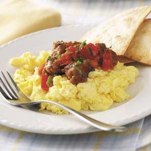 Scrambled Eggs with Chorizo Recipe