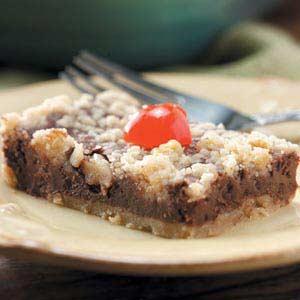 Chocolate-Cherry Cheesecake Bars Recipe