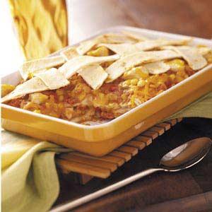 Chicken and Cheddar Tortilla Bake Recipe