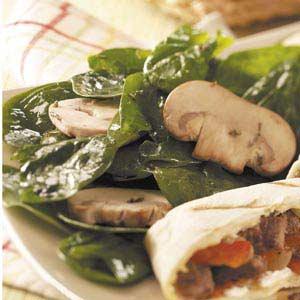 Zesty Spinach Mushroom Salad Recipe