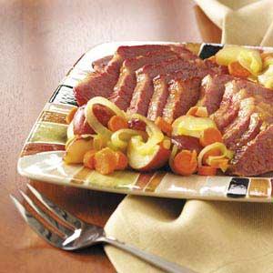 Glazed Corned Beef Dinner Recipe