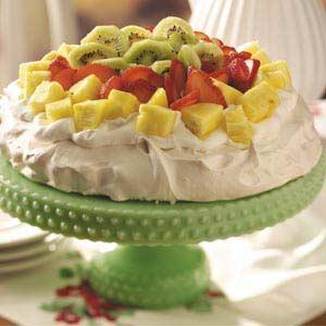 Pineapple-Strawberry-Kiwi Pavlova Recipe