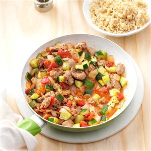 Sausage Zucchini Skillet Recipe