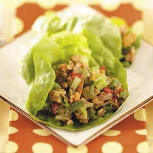 Asian Turkey Lettuce Wraps Recipe
