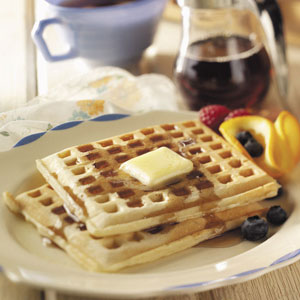 Crisp 'n' Tender Corn Waffles Recipe