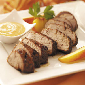 Pork Tenderloin with Peach Honey Mustard Recipe