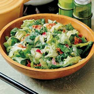 Greens with Hot Bacon Dressing Recipe