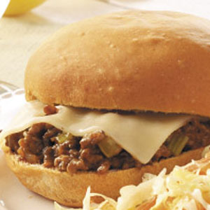 Cheese-Topped Sloppy Joes Recipe