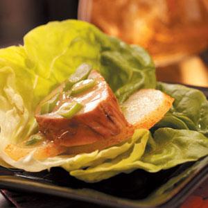 Pork 'n' Pear Lettuce Wraps Recipe