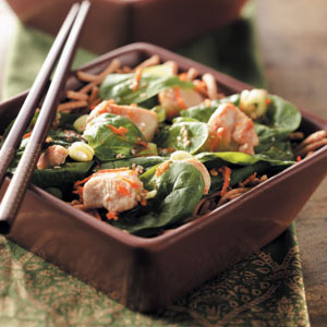 Asian Spinach Chicken Salad Recipe