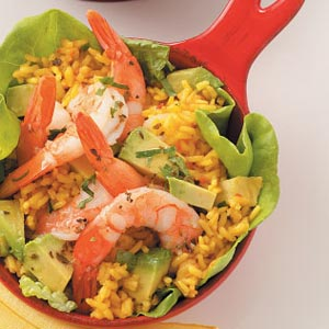 Saffron Rice Shrimp Salad Recipe