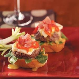 Beefstro Bruschetta  Burgers Recipe