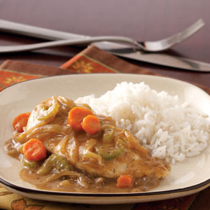 Saucy Chicken with Veggies and Rice Recipe