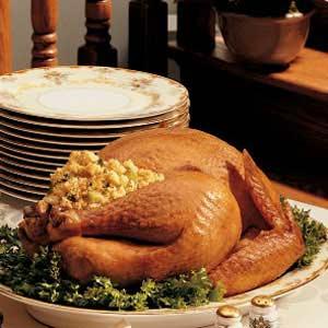 Roasted Turkey with Cornbread Dressing Recipe