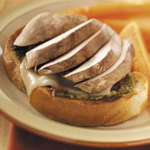 Open-Faced Portobello Sandwiches Recipe