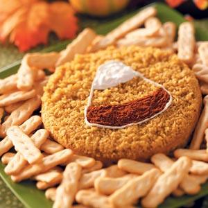 Candy Corn Cheese Spread Recipe