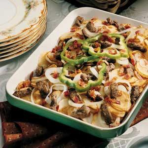 Liver Skillet Supper Recipe