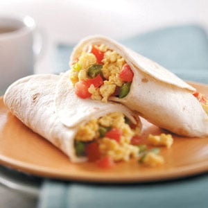 Scrambled Egg Wraps Recipe
