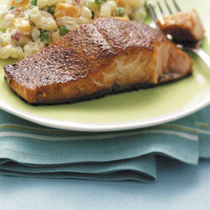 Grilled Curried Salmon