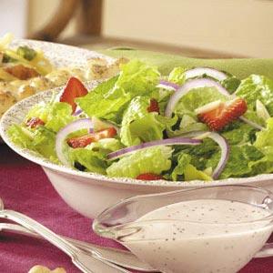 Strawberry, Onion and Romaine Salad Recipe
