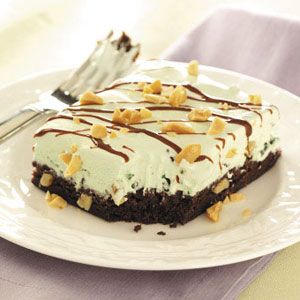 Mint Sundae Brownie Squares Recipe