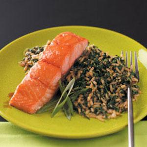 Teriyaki Salmon with Sesame Ginger Rice