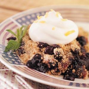 Cinnamon Blueberry Crumble Recipe