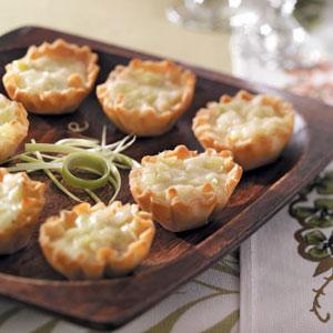 Brie-Leek Tartlets Recipe