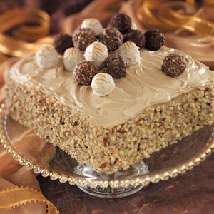 Truffle-Topped Cake Recipe