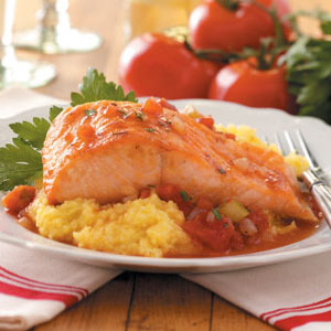 Salmon with Polenta Recipe