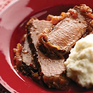 Double-Onion Beef Brisket Recipe