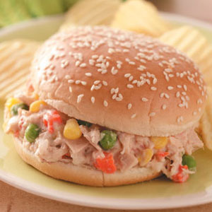 Mixed Veggie Tuna Salad Sandwich Recipe