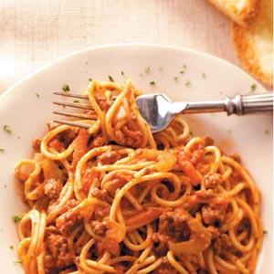 Spaghetti with Bolognese Sauce Recipe