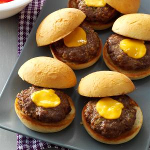 Party Time Mini Cheeseburgers Recipe