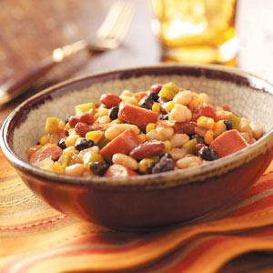 Spicy Beans with Turkey Sausage Recipe