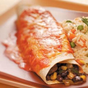 Black Bean Veggie Enchiladas Recipe