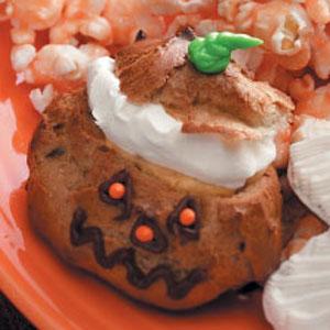 Jack-o'-Lantern Cream Puffs