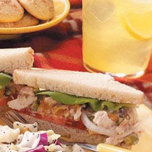 Apricot-Pistachio Chicken Salad Sandwiches Recipe
