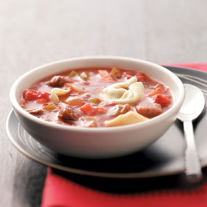 Beef and Tortellini Soup Recipe