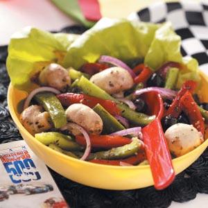 Roasted Pepper Mushroom Salad Recipe