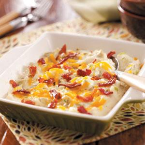 Mashed Potato Artichoke Bake Recipe