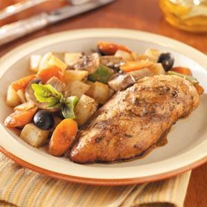 Chicken Breasts with Veggies Recipe